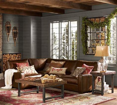 rustic living room tan