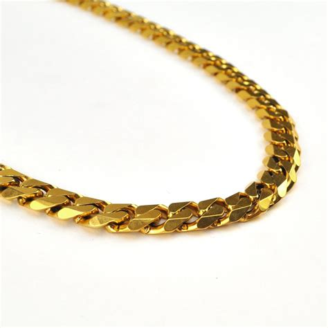 The Links In The Chain flat edge cuban link chain the gold gods jewelry