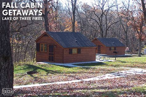 Iowa State Park Cabins by Top Iowa Cabin Fall Getaways Dnr News Releases