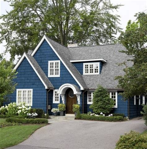 Blue And White House | blue and white cape style house blue home white house