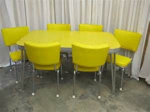 Retro Kitchen Table And Chairs For Sale Retro Mid Century 1950 S Yellow Chrome Table 6 Chairs For Sale Antiques Classifieds