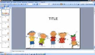 Free Powerpoint Templates Children by Happy Powerpoint Template