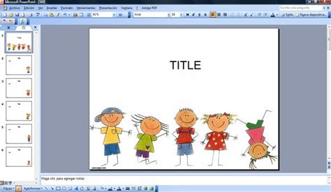 Happy Kids Powerpoint Template Free Powerpoint Templates For Children