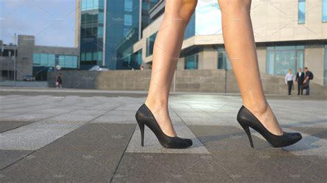 walking with high heels legs in high heels shoes walking in the