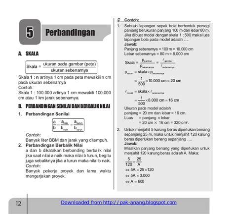 rangkuman materi  matematika smp revised