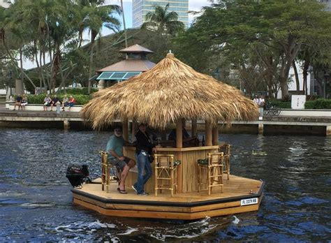 Floating Tiki Hut Another Mai Captain A Floating Tiki Bar Boat