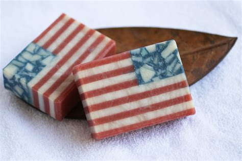 Handmade American Flag - handmade soap usa american flag soap one leaf soap