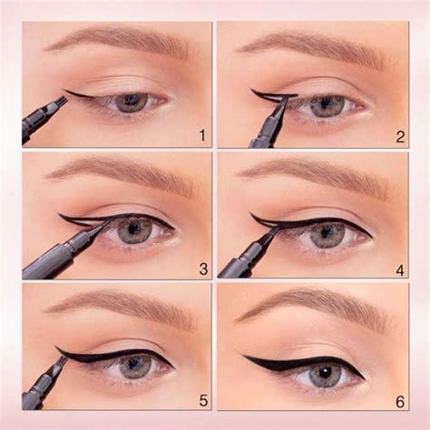 liquid eyeliner tutorial easy winged eyeliner tutorials how to apply winged eyeliner