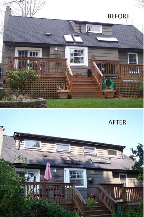 Dormer Before And After before and after of a 30 foot shed dormer addition we built in seattle www flyingdormer