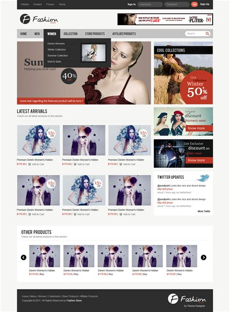design free ecommerce website exclusive freebie quot fashion store quot ecommerce layout psd