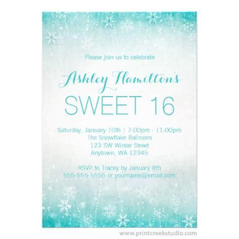 Wedding invitation template snowflake 2018 birkozasfo vintage sweet 16 winter wonderland invitations print creek studio inc pronofoot35fo Image collections