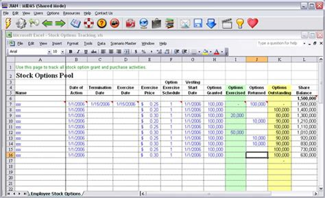 excel stock options template 171 the binary options trading