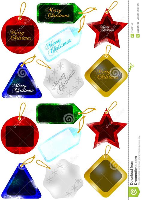 set of christmas gift tags sale tags stock vector