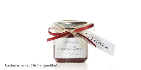 Etiketten Marmelade Gastgeschenk by Marm 243 Ndo Marmeladen Manufaktur Hochzeitsmarmelade Das