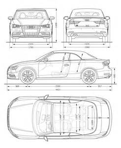 audi a3 cabriolet dimensions blueprint car design