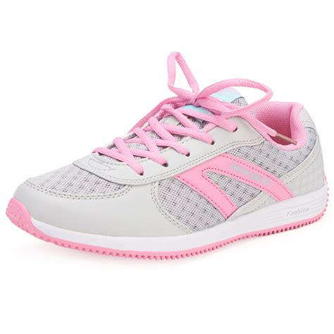 buy delocrd lace up sport tennis running mesh shoes