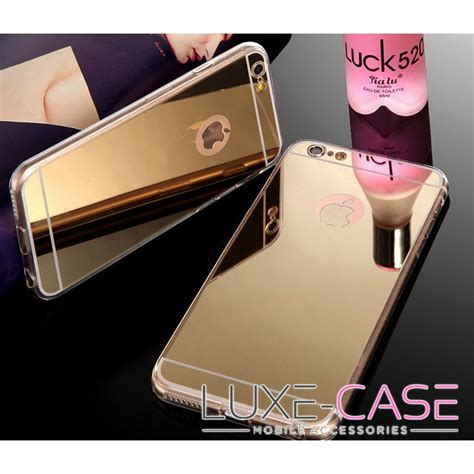 Cassing Housing Iphone6 Gold Original iphone 6 cases shine mirror gold iphone 6 plus luxe