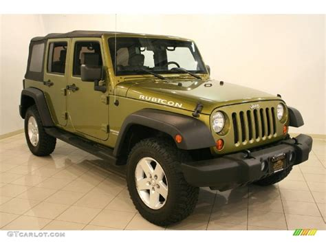 rescue green jeep rubicon 2007 rescue green metallic jeep wrangler unlimited rubicon