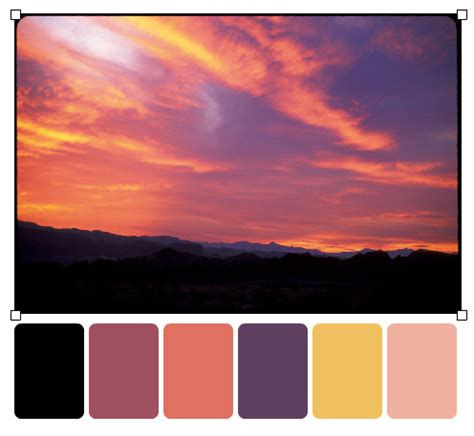 sunset colors color palette ideas it s giveaway day play crafts