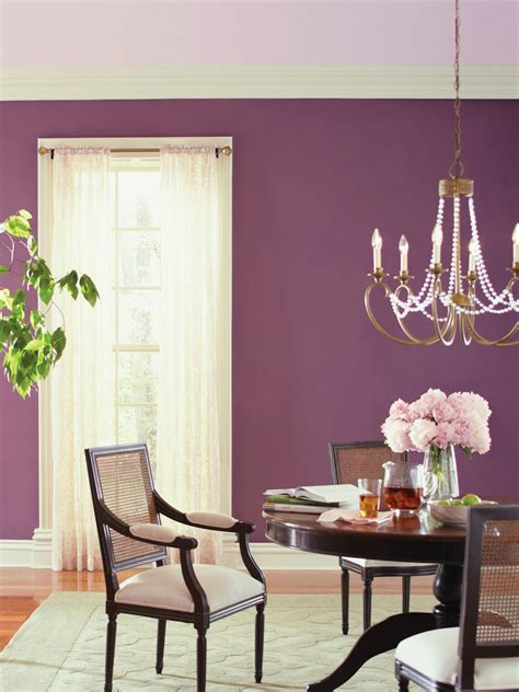 purple dining room photos hgtv