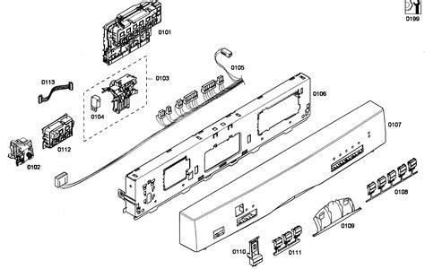 bosch dishwasher parts diagram bosch exxcel dishwasher parts diagram gallery diagram