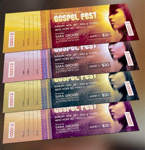 Festival Ticket Template