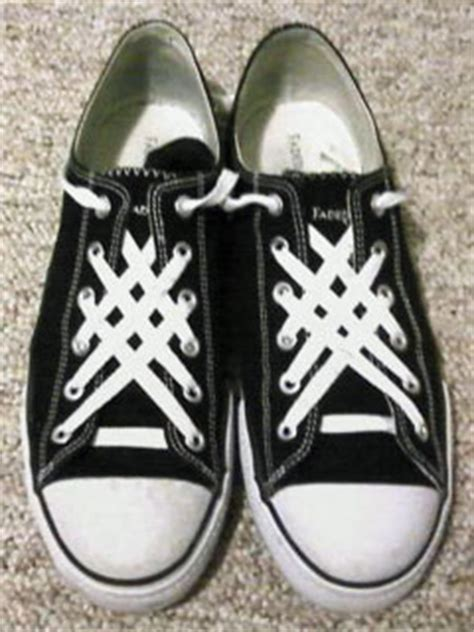 How To Bar Lace High Top Converse by Ian S Shoelace Site Shoe Lacing Photos Enlarge 1494