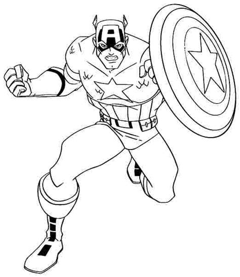 captain america coloring pages getcoloringpagescom