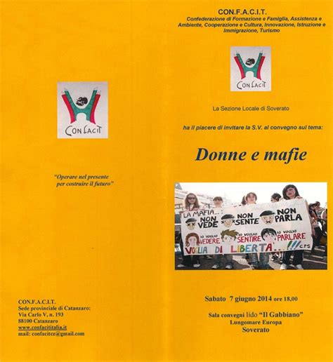 il giornale gabbiano 3 21 11 13 by associazione soverato sabato 7 giugno il convegno quot donne e mafie quot