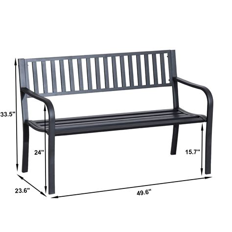 ornate garden bench decorative garden benches outsunny 50 quot slatted steel decorative patio garden bench