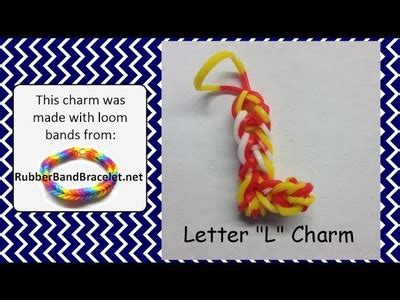 Loom Letter M by 6 Six Link Fishtail Rainbow Loom Bracelet Without