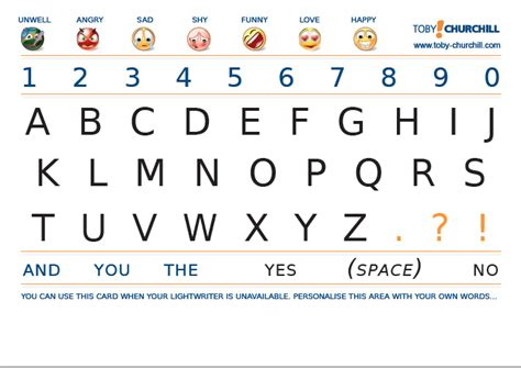 printable alphabet communication board alphabet board download from toby churchill aac