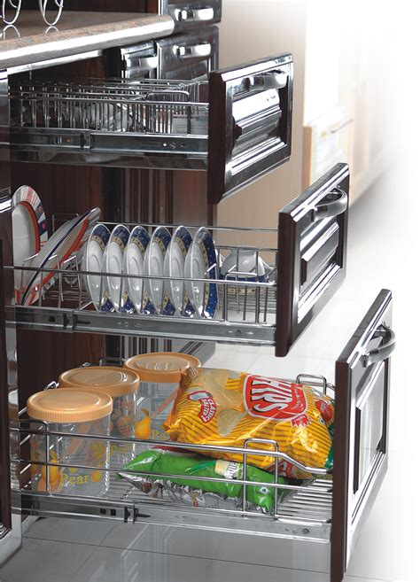 Modular Kitchen Baskets Designs Modular Kitchen Accessories For Modular Kitchen India