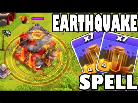 earthquake spell clash of clans new update new earthquake spell spell