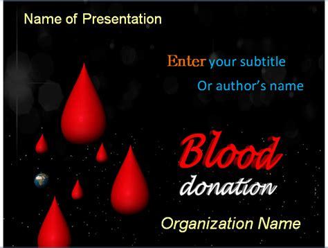 Blood Donation Powerpoint Template Blood Donation Powerpoint Blood Powerpoint Template