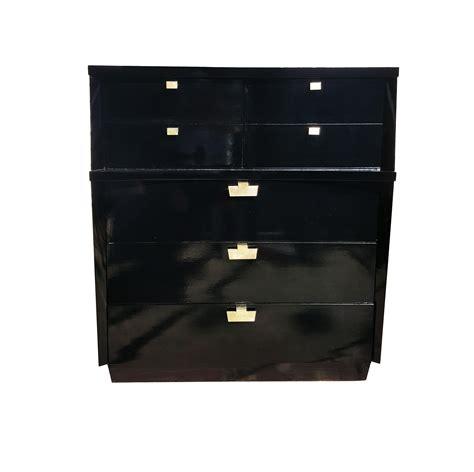 mid century modern black dresser 1950 s mid century modern black lacquer dresser chairish