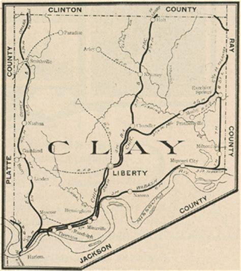 missouri map clay county clay county missouri genealogy history maps with liberty
