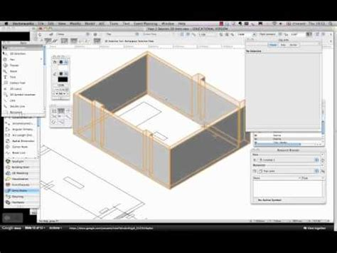 Draw Floor Plan vectorworks spotlight extrude a drawing in 3d youtube