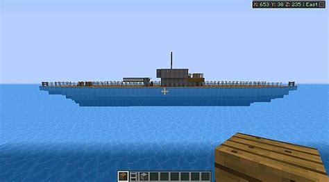 minecraft ww1 boat u boat from naval battle zone server minecraft project