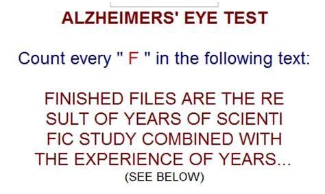 test alzaimer alzheimer eye test bens