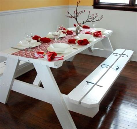 cool painted picnic tables 32 indoor picnic table ideas for a relaxed feel digsdigs