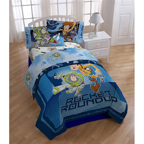disney toy story twin full reversible comforter and sheet