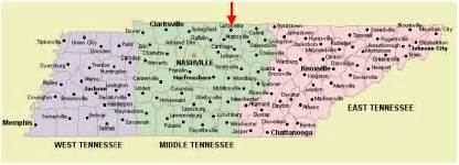 City Map Of Tennessee by Tennessee Map