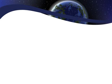 earth powerpoint template the earth on the space powerpoint templates black blue
