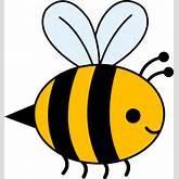 Cute Yellow Bumble Bee - Free Clip Art