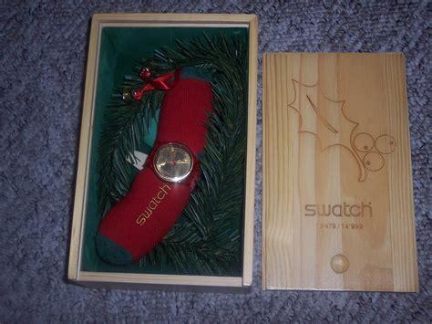 Motorrad Batterie Zieht Sich Zusammen by Swatch Weihnachtsspecial Holly Joy 2004 Neu Ovp Rar