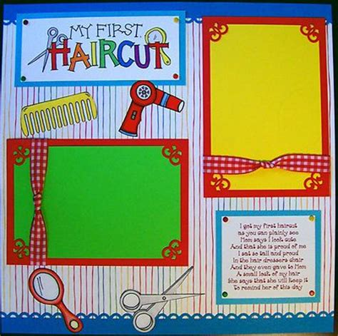 scrapbook layout for first haircut first haircut girl 12x12 premade scrapbook page