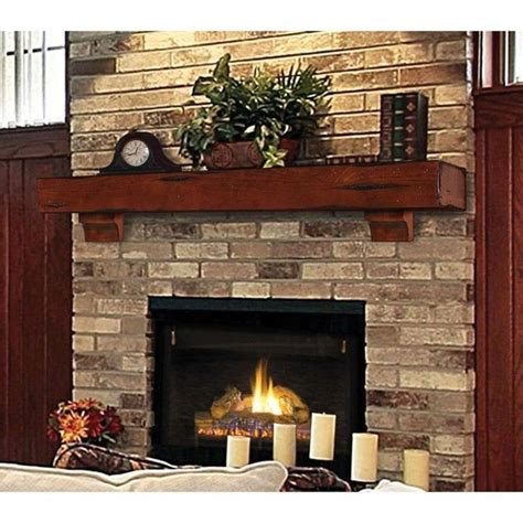 mantle wood beam 72 quot cherry rustic fireplace mantel shelf