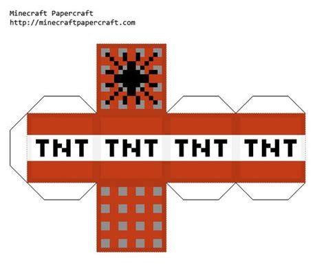 Minecraft Tnt Papercraft - papercraft on