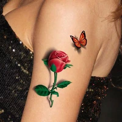 rose and butterfly tattoos 27 flower tattoos